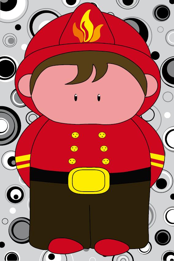 Brandweerman Karel zwarte cirkels