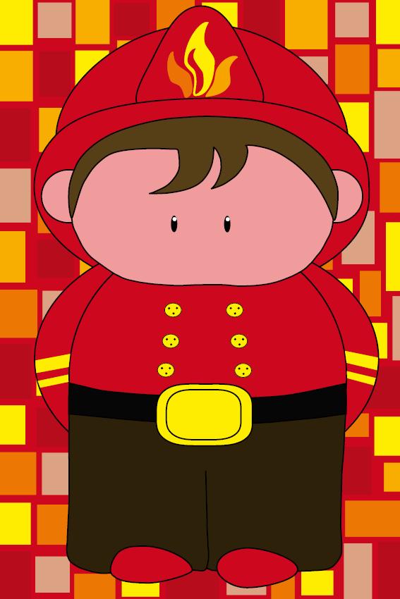 Brandweerman Karel blokken rood