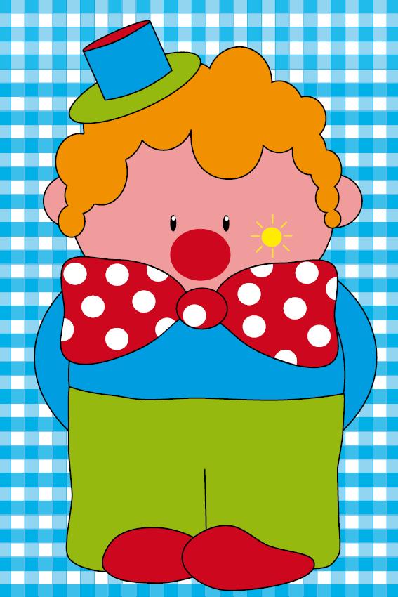 Clown Dirk blauwe ruit