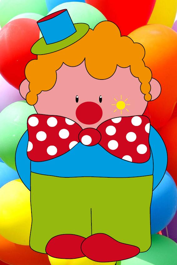 Clown Dirk foto ballonen