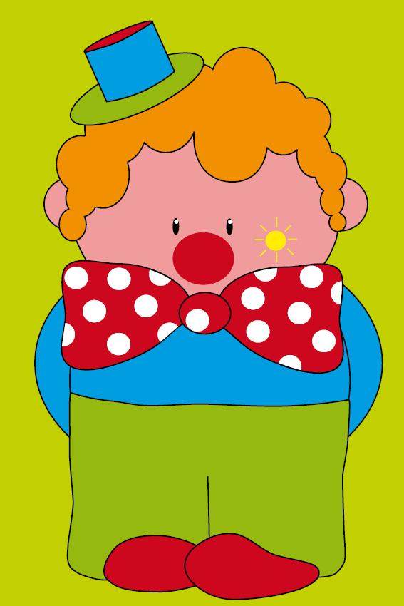 Clown Dirk groen