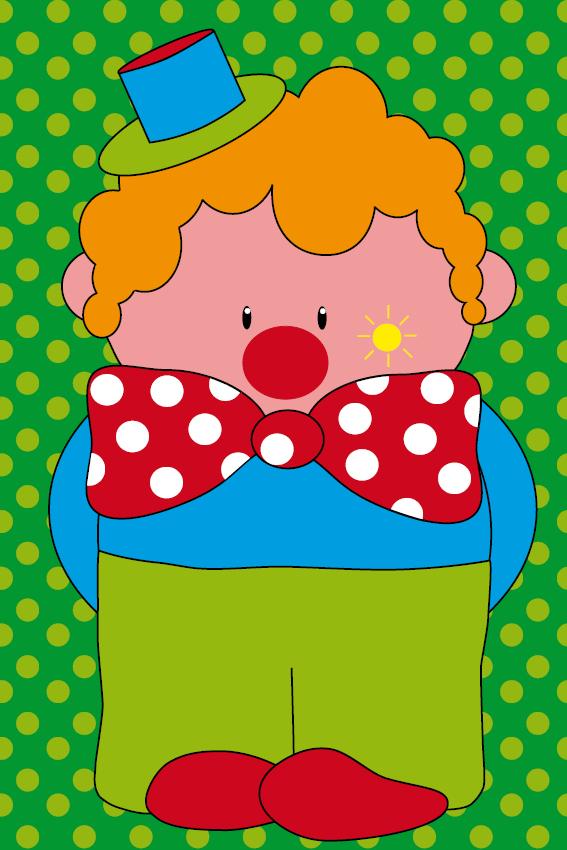 Clown Dirk stippen groen
