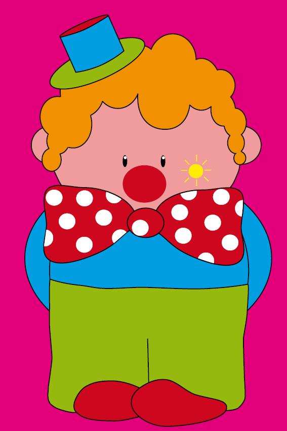 Clown Dirk roze