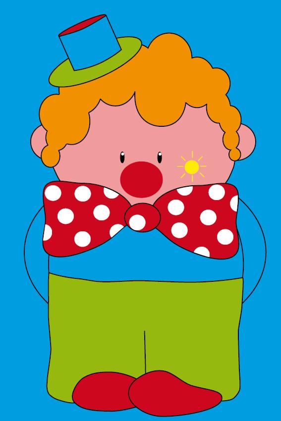 Clown Dirk blauw