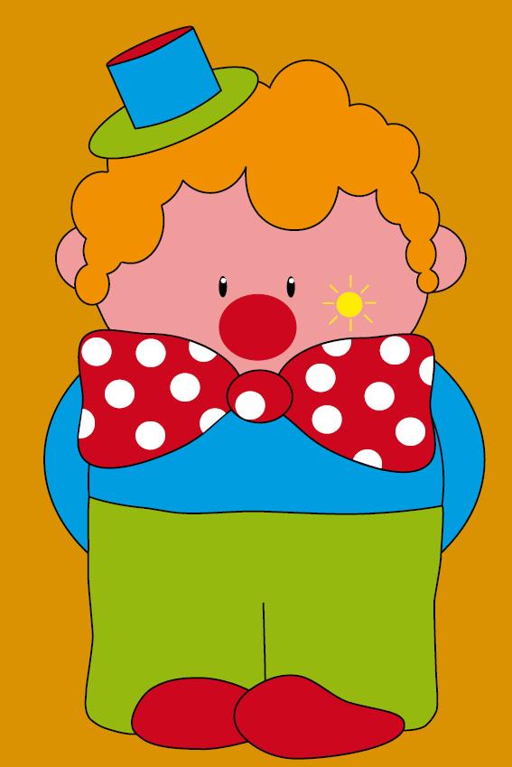 Clown Dirk oranje