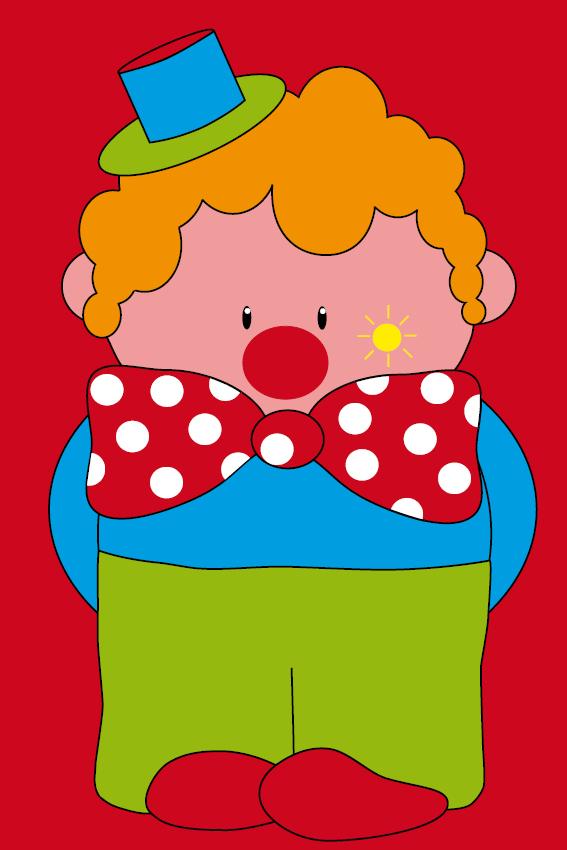 Clown Dirk rood