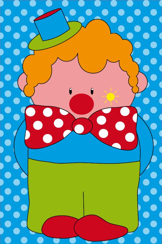 Clown Dirk stippen blauw