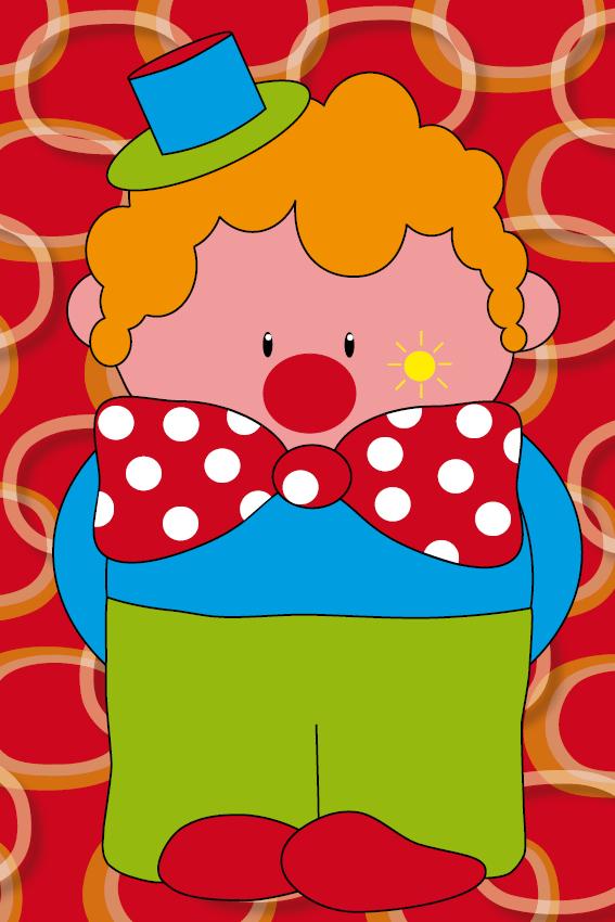Clown Dirk rode ringen