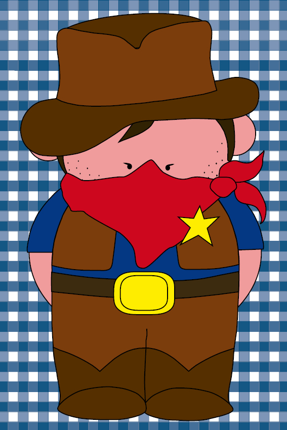 Cowboy Billy donker blauwe ruit
