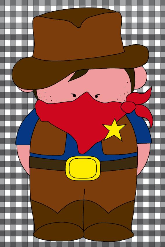 Cowboy Billy zwarte ruit
