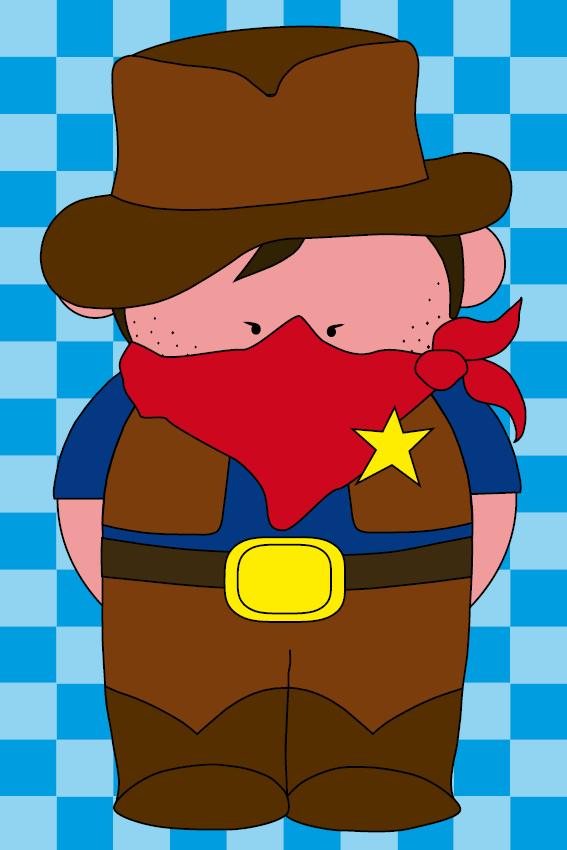 Cowboy Billy blokken blauw
