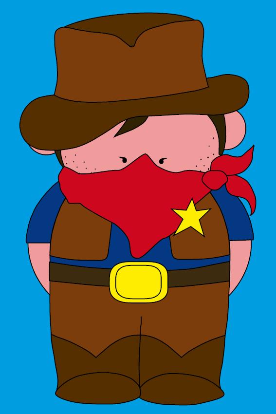 Cowboy Billy blauw