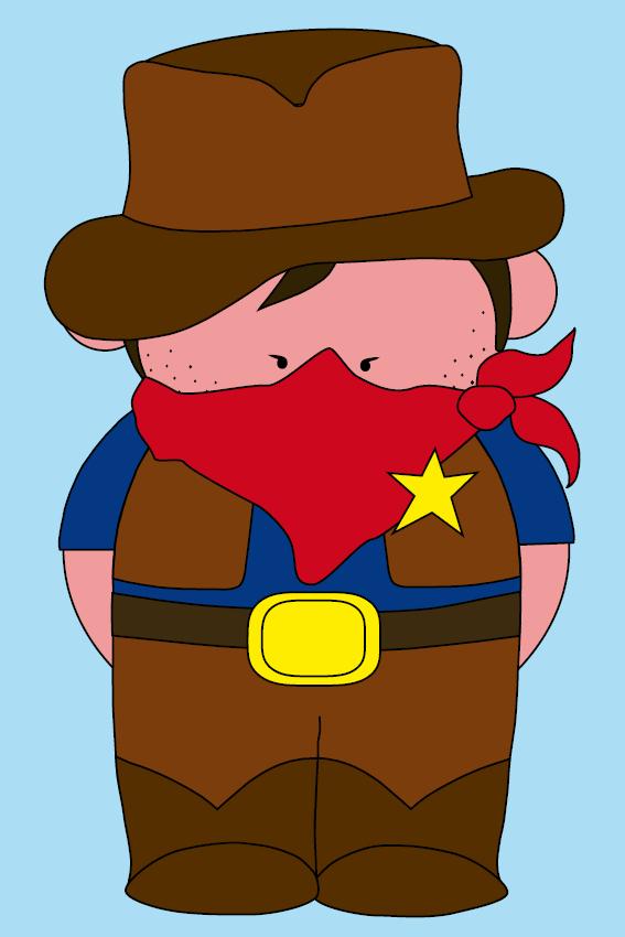 Cowboy Billy baby blauw
