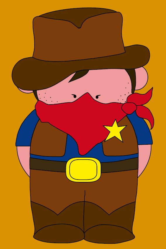 Cowboy Billy oranje