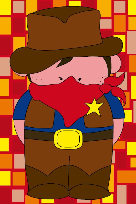 Cowboy Billy rode blokken