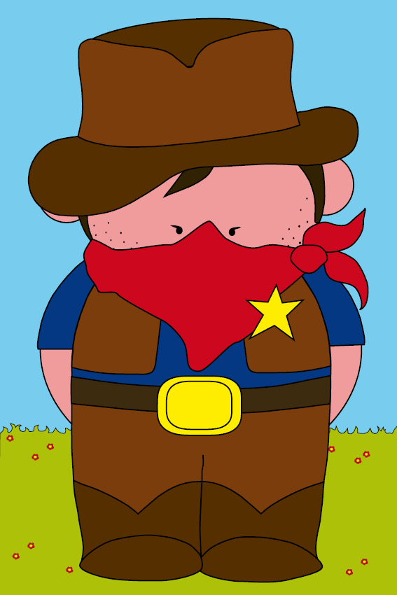 Cowboy Billy gras en lucht