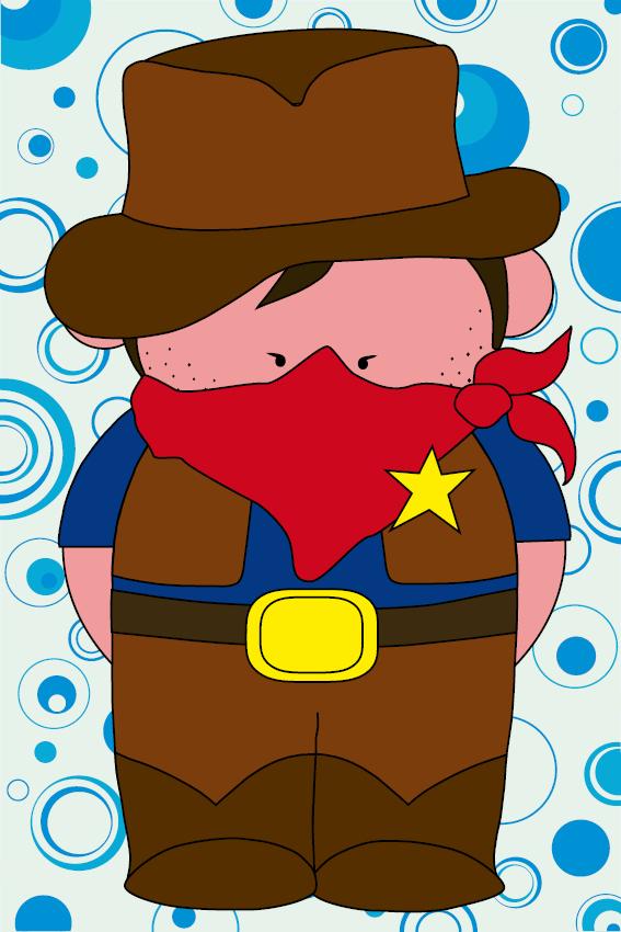 Cowboy Billy blauwe cirkels