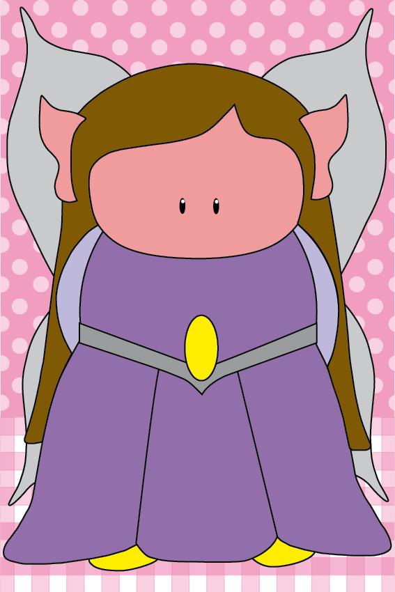 Elfje Elfa roze ruit en stip
