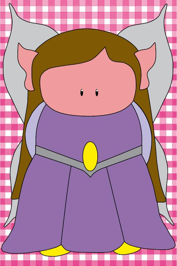 Elfje Elfa roze ruit