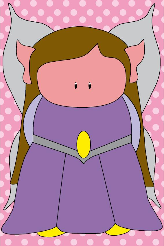 Elfje Elfa baby roze stippen