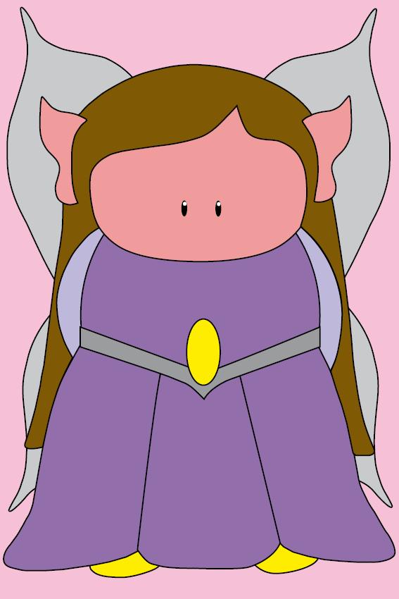 Elfje Elfa baby roze