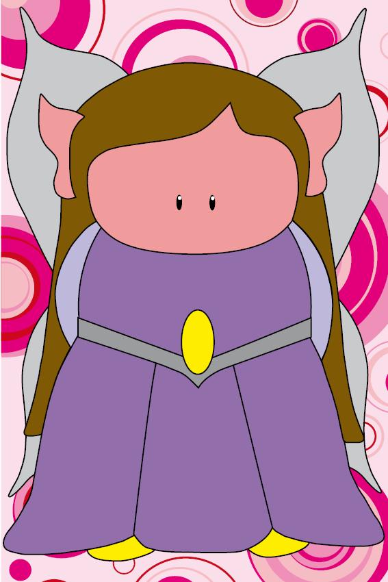 Elfje Elfa cirkels roze