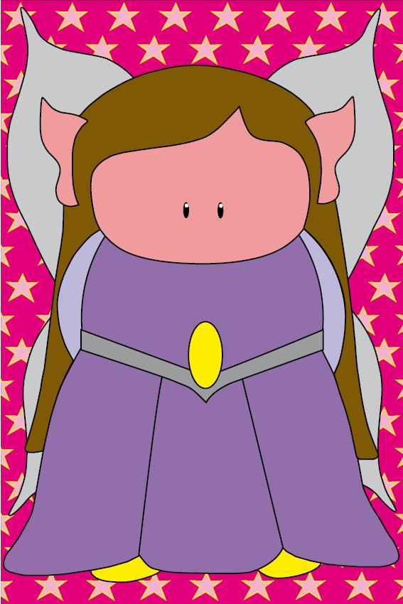Elfje Elfa roze sterren