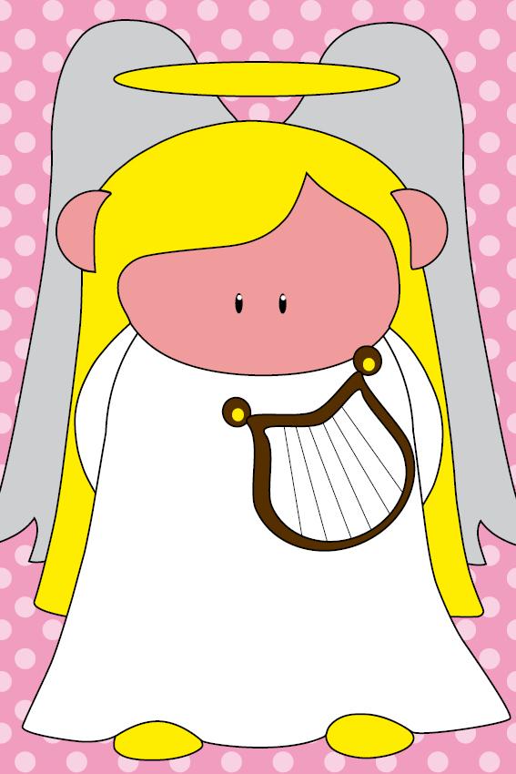 Engel Maria stippen roze