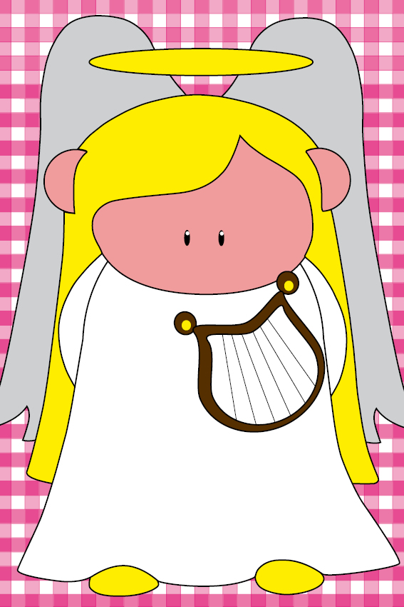 Engel Maria roze ruit