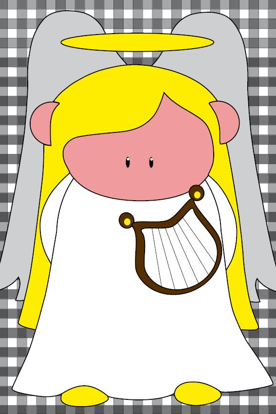 Engel Maria zwarte ruit