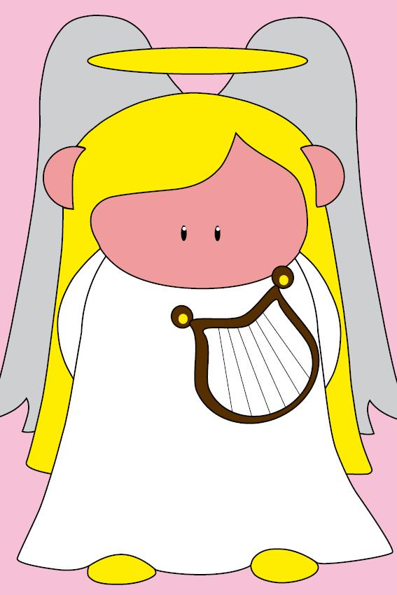 Engel Maria baby roze