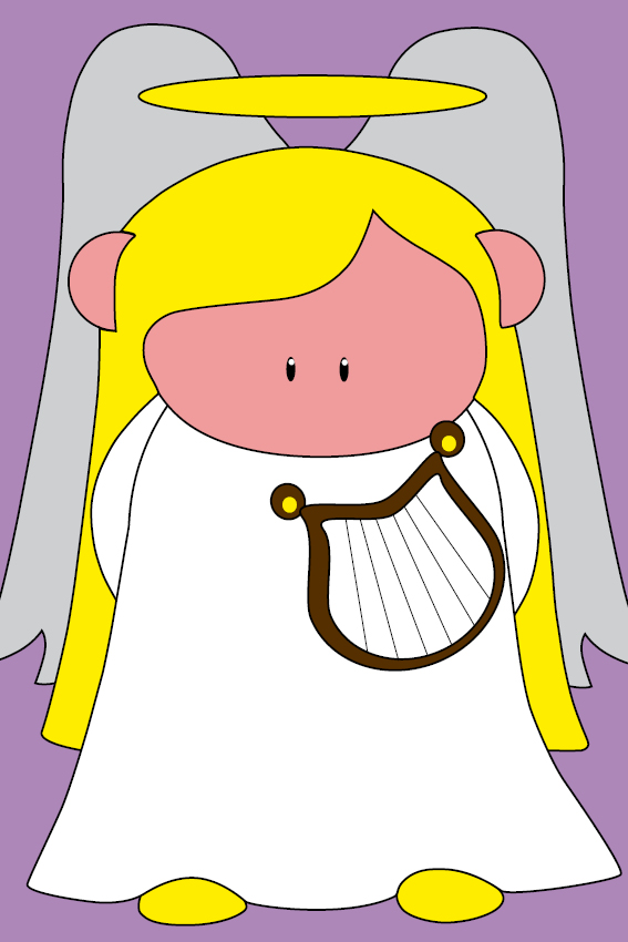 Engel Maria paars