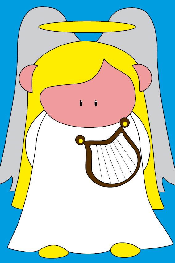 Engel Maria blauw