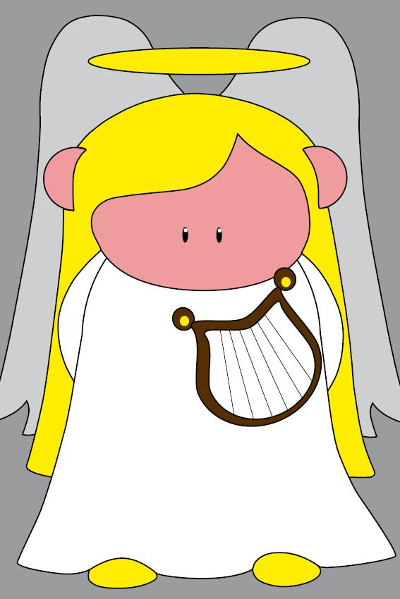 Engel Maria grijs