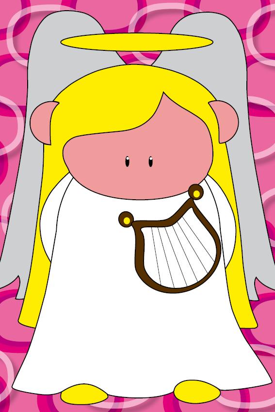 Engel Maria ringen roze