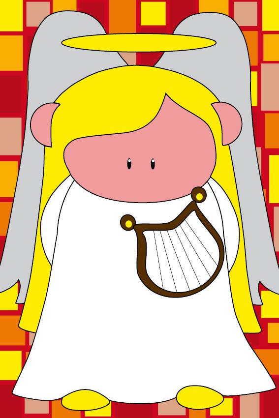 Engel Maria blokken rood