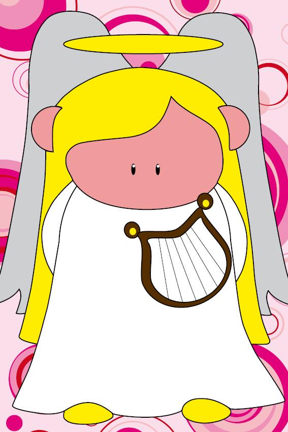 Engel Maria cirkels roze