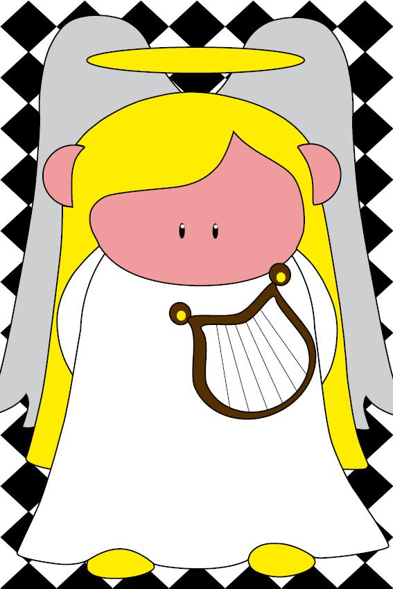 Engel Maria blokken zwart
