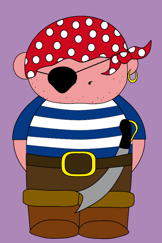 Piraatje Bas paars