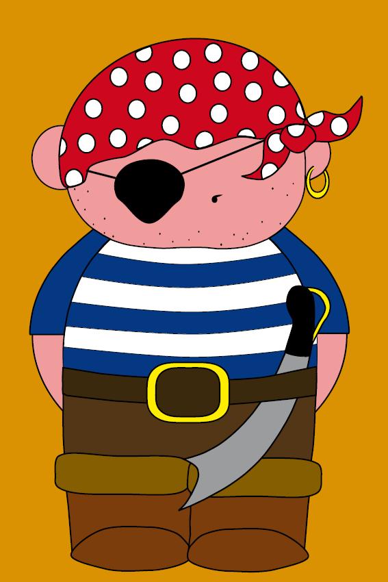 Piraatje Bas oranje