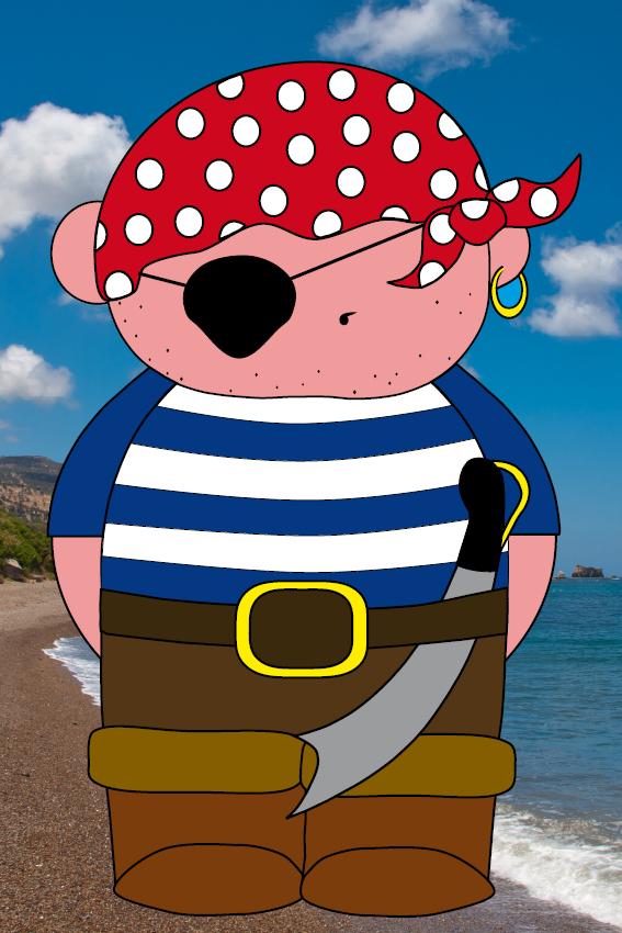Piraatje Bas foto strand