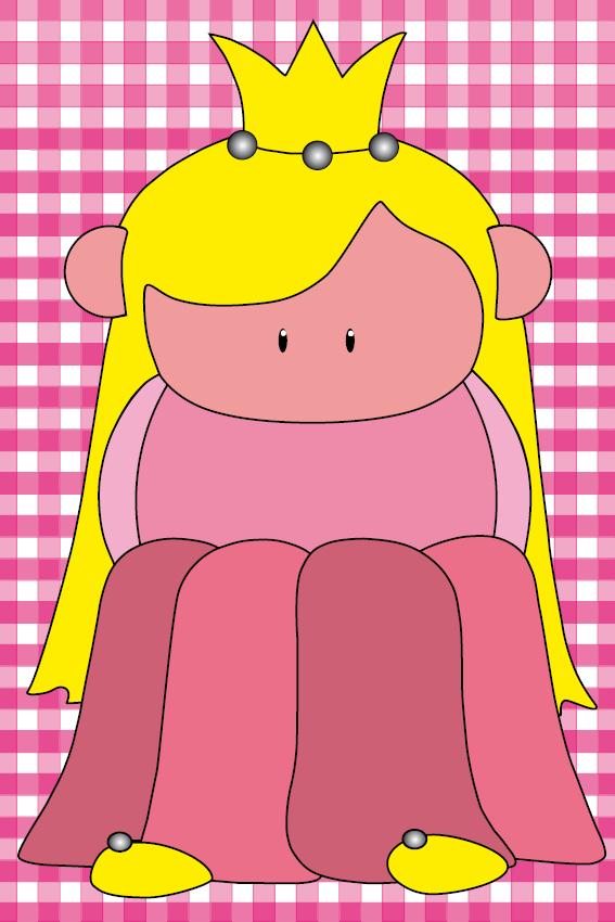 Prinsesje Amalia roze ruit
