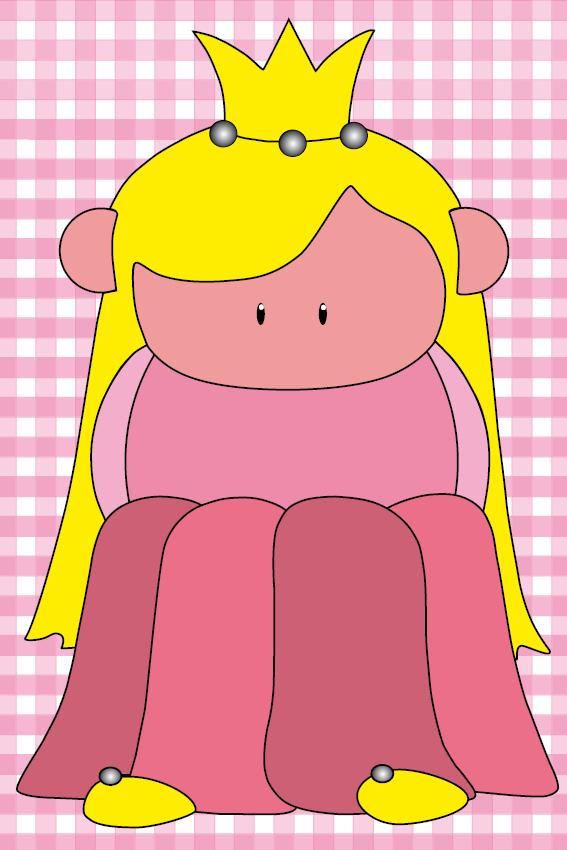 Prinsesje Amalia baby roze ruit