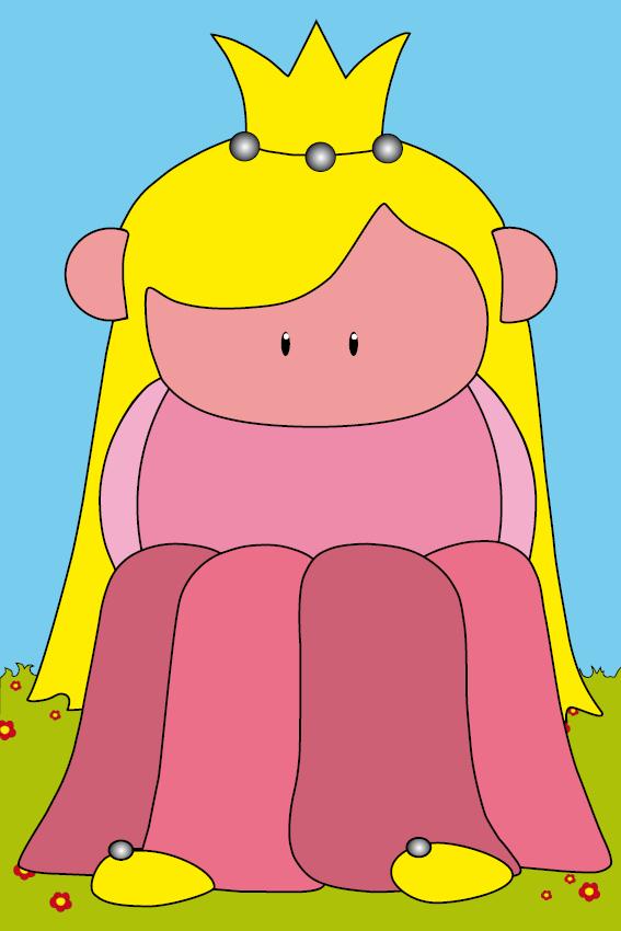Prinsesje Amalia gras en lucht
