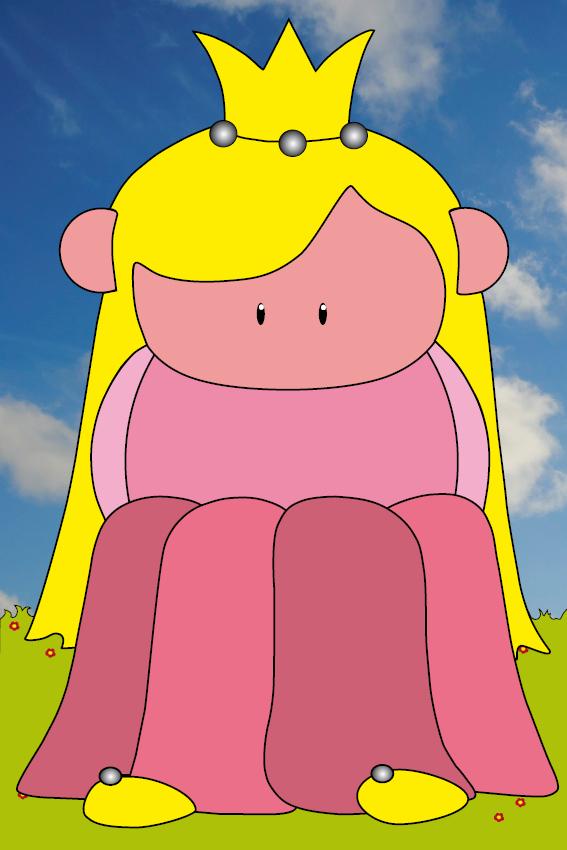 Prinsesje Amalia gras en foto lucht