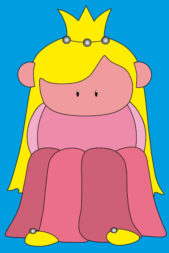 Prinsesje Amalia blauw