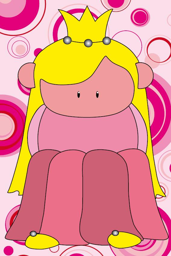 Prinsesje Amalia roze cirkels