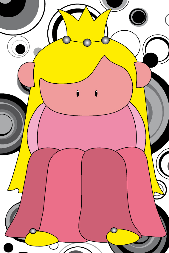 Prinsesje Amalia zwarte cirkels