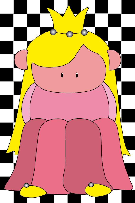 Prinsesje Amalia blokken zwart
