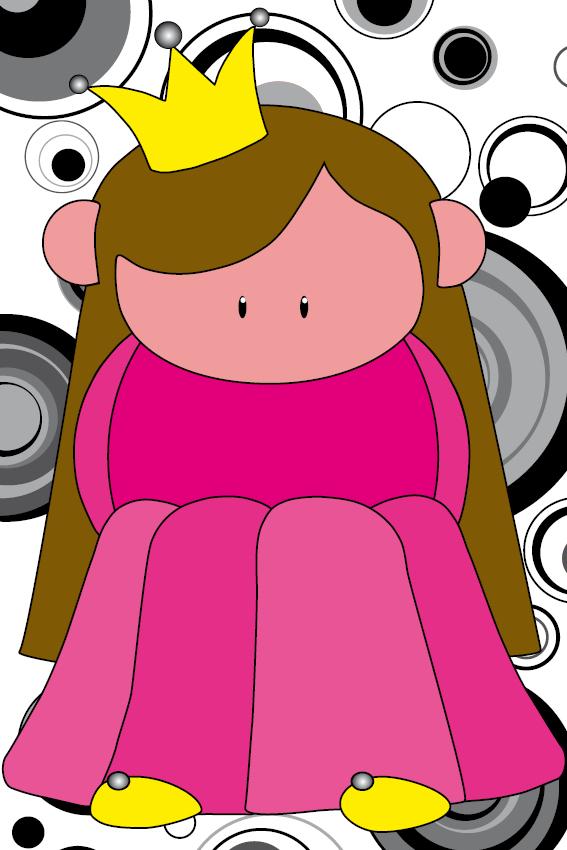 Prinsesje Ariane zwarte cirkels
